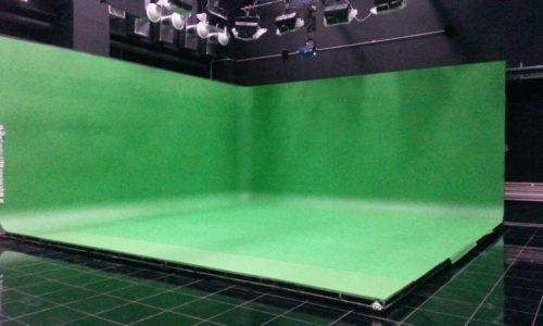 Хромакейный линолеум ROSCO в студии канала