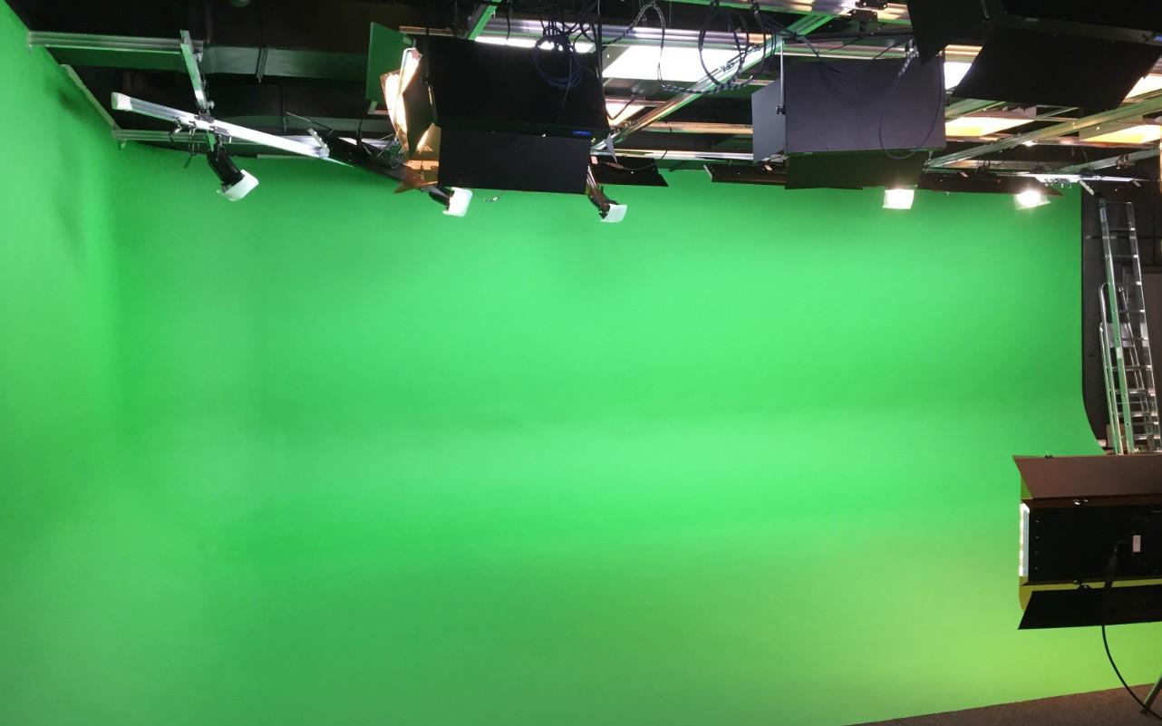 Вид на зеленую циклораму