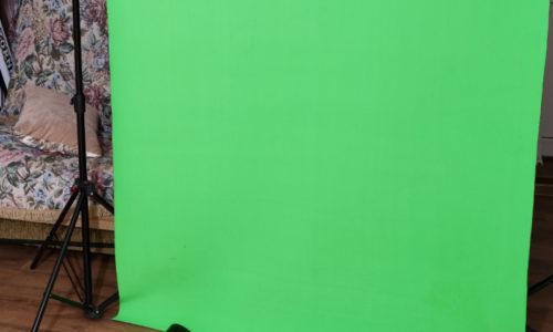 Хромакейный линолеум Tuechler ColorX MATT и хромакейная ткань BRISTOL FVX Fabrics Optic Green